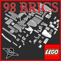 3d model lego brics toys
