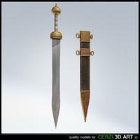 roman gladius 3d model