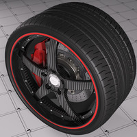 3d model rim forged