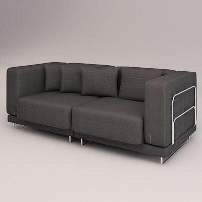 3d model tylosand sofa double