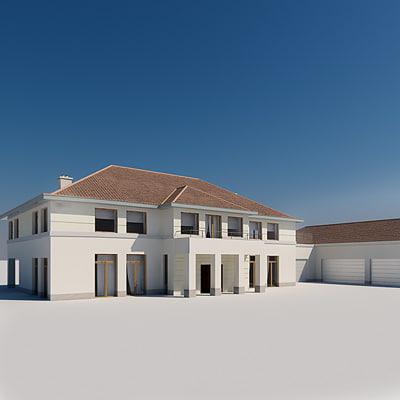 3ds max house garage