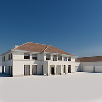 3ds max house garage