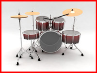 drum set 3d obj