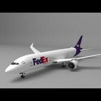 787 popular freight company 3d model