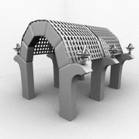 archway breziers 3d model
