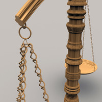 balance scales 3d model