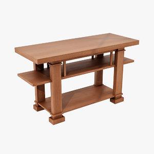 3d design hall table boynton