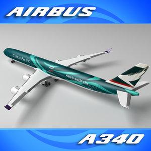 lightwave a340-600 chinese airways a340