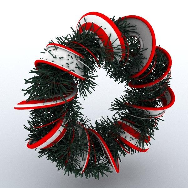obj christmas wreath