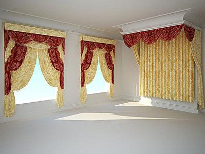 curtain classic 3d model
