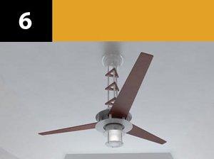 ceiling fan 6 3d model