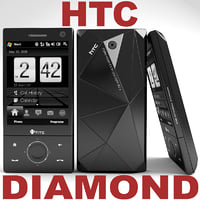 htc touch diamond 3d model
