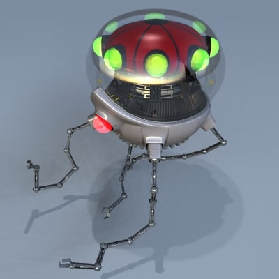 jellyfish robot 3d model