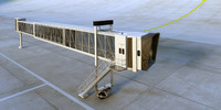 airport jetway - animate 3d model