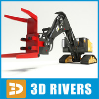 3dsmax feller buncher industrial vehicles