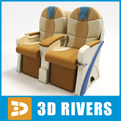 airplane business class seats 3d 3ds