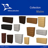 3d model malm furniture