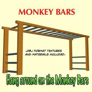 monkey bars 3d obj