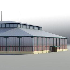 3d model market hall build
