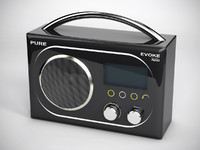 3d model digital radio