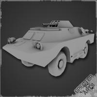 3d model brdm-2 scout car