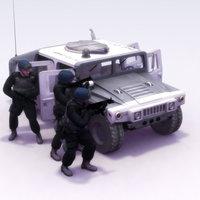 SWAT_Team+Hummer_3DSMax