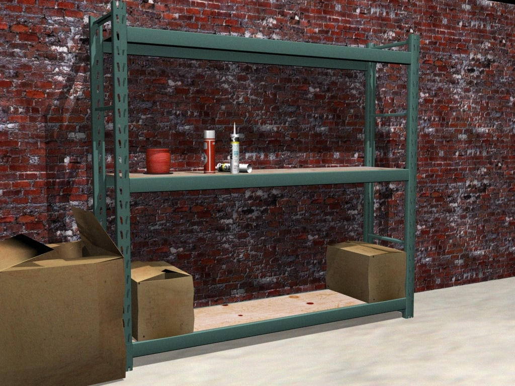 maya industrial shelf