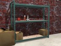 maya industrial shelf