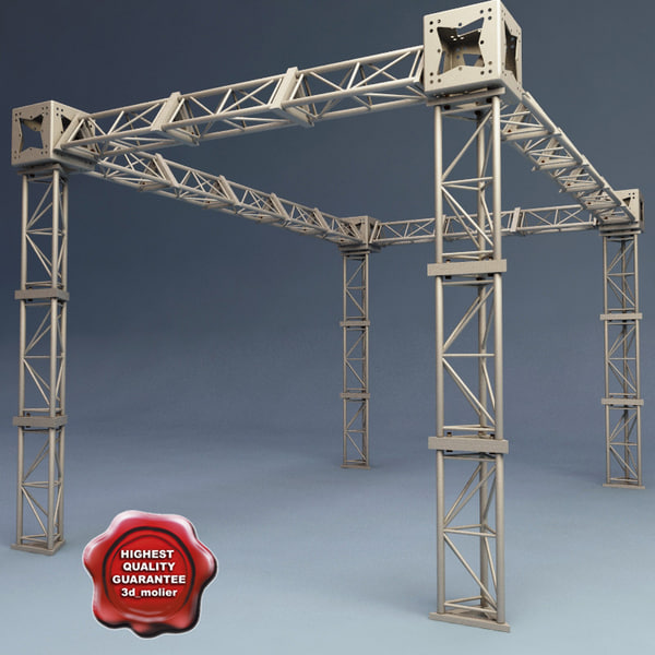 steel truss v2 c4d