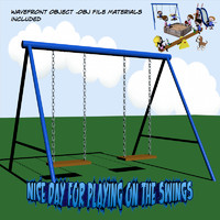 swing set 3d obj