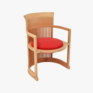 max frank lloyd taliesin chair