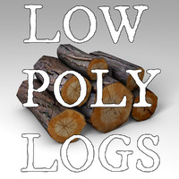 Low Poly Logs 3d Model