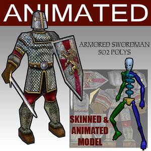 3d armored glest animation model