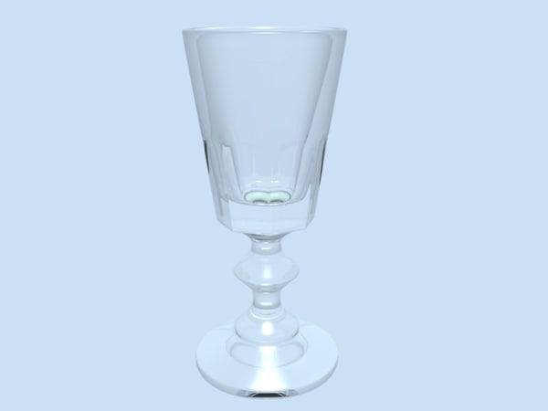 goblet glass 3d obj
