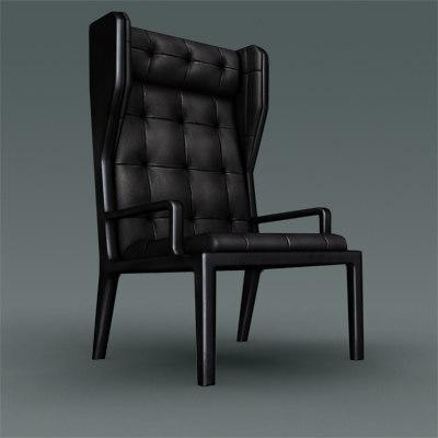 3d modern leather chair