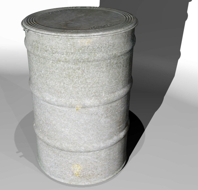3ds max drum container