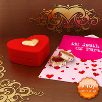 3d heart shaped box