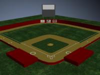 max baseball field bases