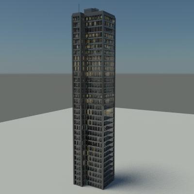rise building 2010 3d max