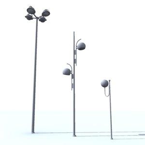 streetlights 3d max