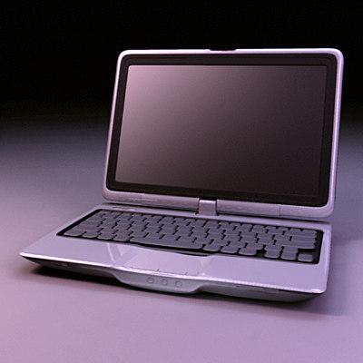 hp notebook 3d model