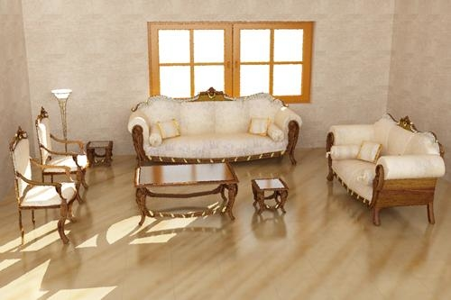 3ds max furniture group classical