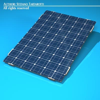 3d photovoltaic module model