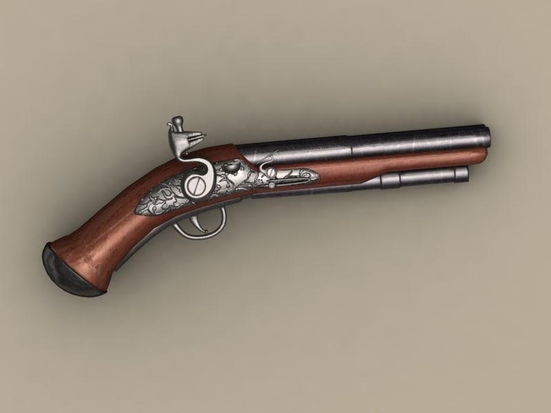3d pirate pistol model