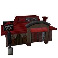 3d model pizza hut