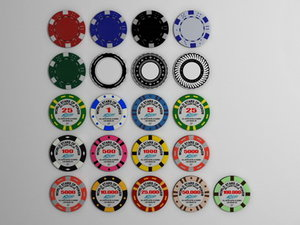 3ds max poker gambling chips
