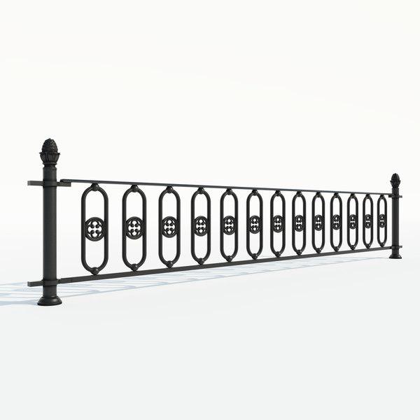 maya cast iron fence section