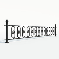 Cast iron fence section_01