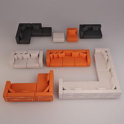 3d model tylosand sofas