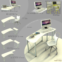 table versatile japanes style 3d model